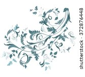 floral ornament for your design | Shutterstock .eps vector #372876448