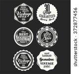 premium quality retro badges...   Shutterstock .eps vector #372877456