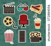 cinema. vector set.  | Shutterstock .eps vector #372884056
