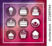 bakery set icons design  vector ... | Shutterstock .eps vector #372889564