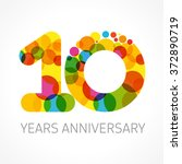 10 years old multicolored... | Shutterstock .eps vector #372890719