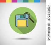 vector icon in color circle in...   Shutterstock .eps vector #372892534