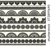 set of vintage borders. could... | Shutterstock .eps vector #372895690