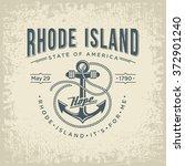 rhode island stylized emblem... | Shutterstock .eps vector #372901240
