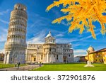 pisa the leaning tower. tuscany ... | Shutterstock . vector #372901876