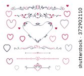 vintage scroll elements and... | Shutterstock .eps vector #372902110