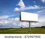 empty billboard in front of... | Shutterstock . vector #372907900