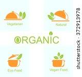 illustration set of vegetarian... | Shutterstock . vector #372913978