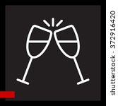 web line icon. glasses of... | Shutterstock .eps vector #372916420