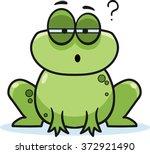 cartoon frog  vector... | Shutterstock .eps vector #372921490