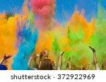 color holi festival | Shutterstock . vector #372922969