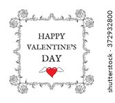 happy valentine's day. vintage  ... | Shutterstock .eps vector #372932800