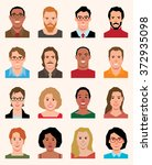 set of vector avatars icons men ... | Shutterstock .eps vector #372935098