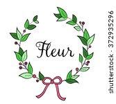 floral shop    logo  poster ... | Shutterstock .eps vector #372935296