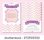 set invitation for children's... | Shutterstock .eps vector #372935533