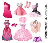 evening wear for men and women...   Shutterstock .eps vector #372940336