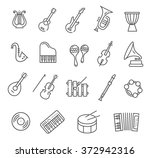 music instruments. vector icons   Shutterstock .eps vector #372942316