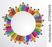 pencil flat illustration  ... | Shutterstock . vector #372948103