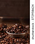 coffee beans and dark chocolate ... | Shutterstock . vector #372958624