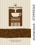 design labels for coffee beans... | Shutterstock .eps vector #372959263