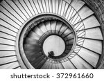 spiral circle staircase... | Shutterstock . vector #372961660