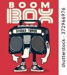 cool radio character vector...   Shutterstock .eps vector #372966976