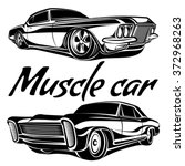 muscle car vector poster... | Shutterstock .eps vector #372968263