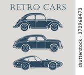 Stock vector vintage car vector illustrations 372968473