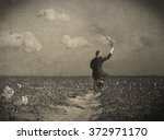 replanting empty fields  | Shutterstock . vector #372971170