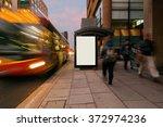 blank outdoor bus advertising... | Shutterstock . vector #372974236
