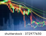 stock market chart  stock... | Shutterstock . vector #372977650