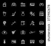 e wallet line icons on black...   Shutterstock .eps vector #372982678