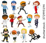 people with different... | Shutterstock .eps vector #372995194