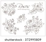 line drawing stencil with a... | Shutterstock .eps vector #372995809