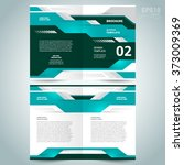 brochure design template vector ... | Shutterstock .eps vector #373009369