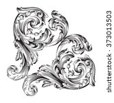 vintage baroque frame scroll... | Shutterstock .eps vector #373013503