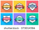 colorful vintage premium... | Shutterstock .eps vector #373014586