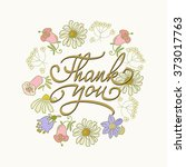 card template with hand drawn... | Shutterstock .eps vector #373017763
