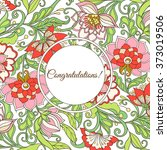 vintage style flowers pattern...   Shutterstock .eps vector #373019506