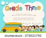 grade four diploma with... | Shutterstock .eps vector #373021750