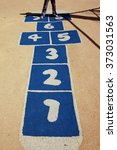 Close Up Of Play Hopscotch With ...