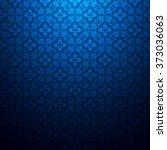 vintage floral dark blue... | Shutterstock .eps vector #373036063