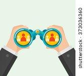hand and binocular  recruitment ... | Shutterstock .eps vector #373036360