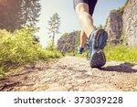 outdoor cross country running... | Shutterstock . vector #373039228