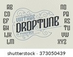 retro font with decorative... | Shutterstock .eps vector #373050439