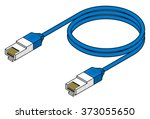 A Blue Ethernet Network Cable.