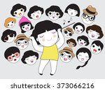 you are a conductor of... | Shutterstock .eps vector #373066216