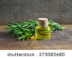 rosemary essential oil in a... | Shutterstock . vector #373085680