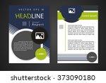 abstract vector modern flyers... | Shutterstock .eps vector #373090180
