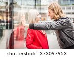 relationship issues   couple... | Shutterstock . vector #373097953